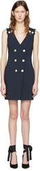 Balmain Pierre Navy Double Breasted Dress