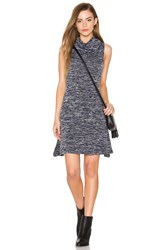 Bishop Young Cowl Neck Sleeveless Dress Blue