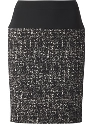 Narciso Rodriguez Fitted Short Skirt Black