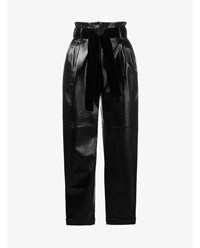 Philosophy Patent Lambskin Trousers Black