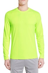 Men's Bpm Fueled By Zella 'Celsian' Long Sleeve Moisture Wicking T Shirt Yellow Xray