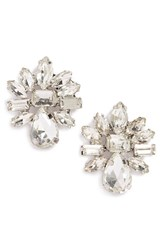 Women's Cara Rhinestone Cluster Earrings