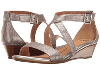 Sofft Innis Silver Atlas Women's Wedge Shoes Gray