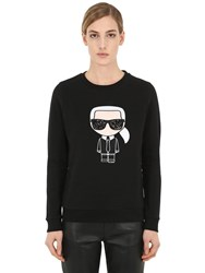 Karl Lagerfeld Ikonik Cotton Sweatshirt Black