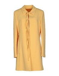 Moschino Cheap And Chic Coats Yellow
