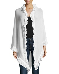 Minnie Rose Ruffle Trim Cotton Wrap White