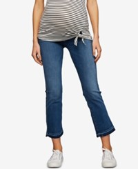 A Pea In The Pod 7 For All Mankind Maternity Cropped Boot Cut Jeans Vintage Dusk