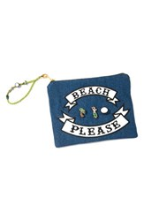 Venessa Arizaga 'Beach Please' Embellished Pouch