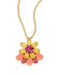 Kate Spade Brilliant Bouquet Mini Floral Pendant Orange