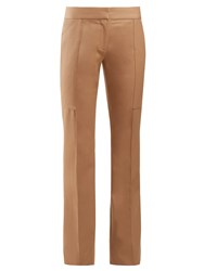 Stella Mccartney Mid Rise Straight Leg Trousers Camel