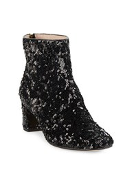 Kate Spade Tal Sequin Ankle Boots Black