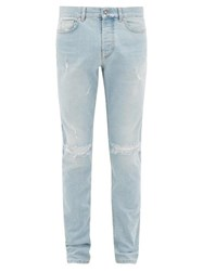 Givenchy Destroyed Slim Leg Jeans Light Blue