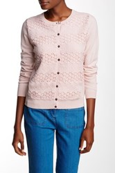 Vince Camuto Lace Stripe Front Cardigan Pink