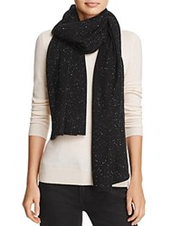 Bloomingdale's C By Donegal Cashmere Scarf 100 Exclusive Black