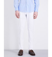 Slowear Slim Fit Tapered Stretch Cotton Trousers White