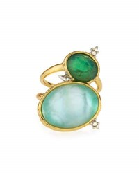 Alexis Bittar Golden Multi Stone Cocktail Ring No Color