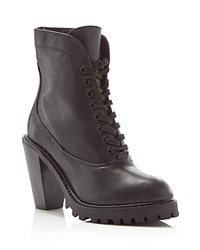 Kelsi Dagger Brooklyn Berlin Lace Up High Heel Booties Compare At 198 Black