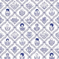 Flavor Paper Bay Area Toile On Ez Papes Wallpaper Sample Swatch Ballpoint Blue Sample