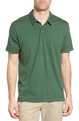 James Perse Men's Slim Fit Sueded Jersey Polo Rugby