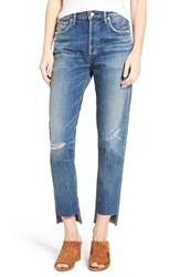 Citizens Of Humanity Women's Liya High Rise Step Hem Boyfriend Jeans