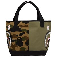 A Bathing Ape 1St Camo Shark Tote Bag Green