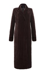 Lake Studio Quilted Long Coat Brown