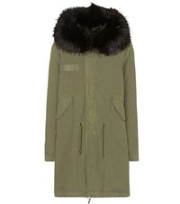 Mr And Mrs Italy Fur Trimmed Cotton Parka Green