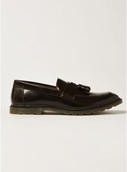 Topman Red Burgundy Patent Preston Penny Loafers