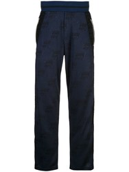Iceberg Logo Embroidered Track Trousers Blue