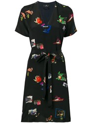 Paul Smith Ps Graphic Print Dress Blue