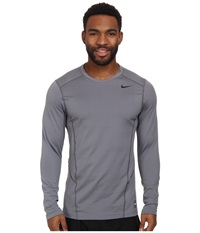 Nike Hyperwarm Lite Fitted L S Crew Cool Grey Black Black Men's Long Sleeve Pullover