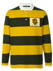 Kent And Curwen Striped Rugby Polo Shirt Green