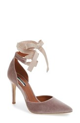 Topshop Women's Graceful Ankle Tie D'orsay Pump Nude