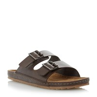 Bertie Frodo Double Buckle Sandals Brown