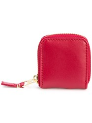 Comme Des Garcons Wallet Small Coin Purse Unisex Leather One Size Red