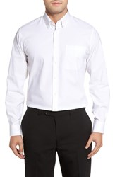 Nordstrom 'S Big And Tall Men's Shop Tech Smart Traditional Fit Stretch Solid Dress Shirt White