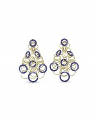 Buccellati Hawaii Lapis Circle Earrings In 18K Gold