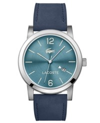 Lacoste Men's Metro Blue Suede Leather Strap Watch 42Mm No Color