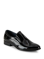 Hart Schaffner Marx Leather Almond Toe Loafers Black