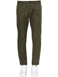 Dsquared 16Cm Tidy Cotton Twill Pants Army Green