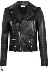Saint Laurent Perfecto Embellished Leather Biker Jacket Black