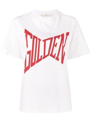 Golden Goose Deluxe Brand 'Golden' Print T Shirt Women Cotton M White