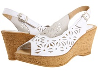 Spring Step Abigail White Leather Women's Wedge Shoes