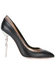 Francesca Mambrini Pointed Toe Pumps Black
