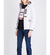 Aape By A Bathing Ape Reversible Quilted Jacket White