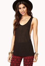 Forever 21 Low Cut Racerback Tank Black