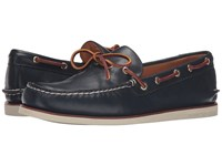 Sperry Gold A O 1 Eye Wedge Navy Men's Moccasin Shoes
