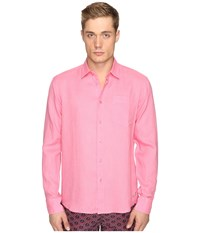 Vilebrequin Linen Long Sleeve Button Up Pink