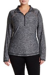 Z By Zella Front Zip Sweater Plus Size Black