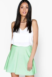 Boohoo Fit And Flare Skater Skirt Mint